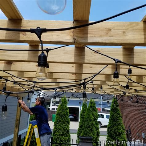 pergola with lights outdoor pergola and lights cleverly inspired