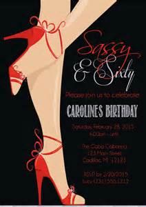 red shoe 60th birthday invitation women s sassy amp sixty