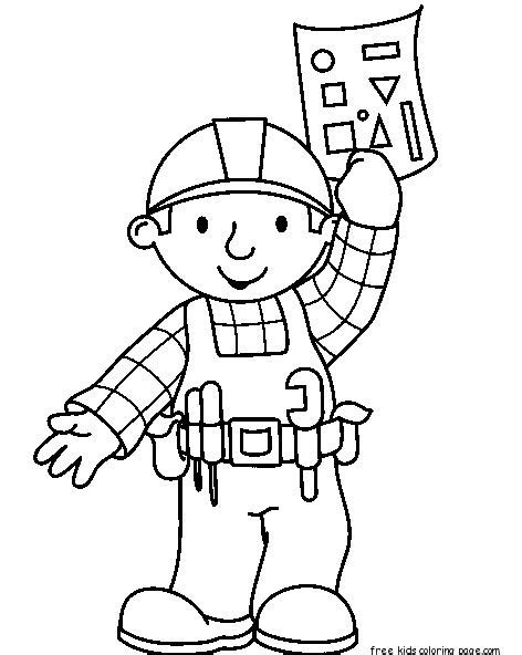 Bob The Builder Coloring Pages For Kids Printablefree Bob The Builder Coloring Pages To Print