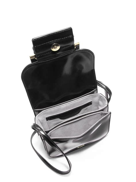 Stella Mccartney Saddle Bag by Stella Mccartney Buckle Faux Leather Shoulder Bag In Black
