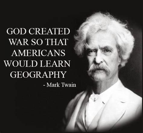 mark twain   god create war buz