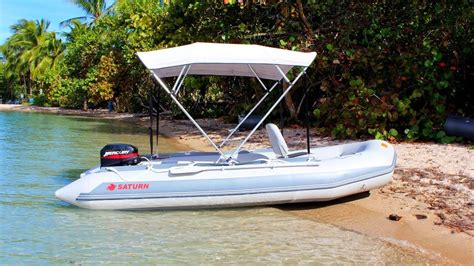 saturn sd410 inflatable boat with 15hp outboard motor - Saturn Inflatable Boat With Motor