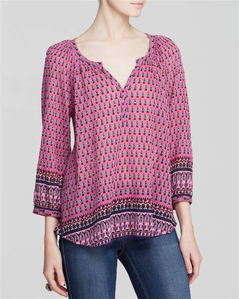 Beachlunchlounge Jumper by Lunch Lounge Annika Beaded Peasant Blouse In Purple Lyst