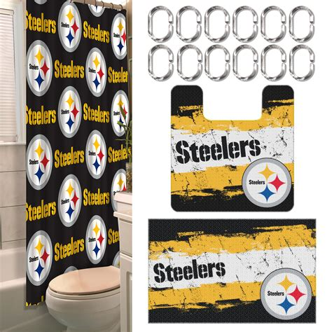 Nfl Bathroom Sets Nfl Pittsburgh Steelers Bathroom Set