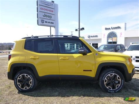 yellow jeep interior 2015 solar yellow jeep renegade trailhawk 4x4 102439103
