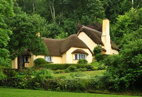 Wallpaper England Thatched Cottages Somerset Trees Cities Thatched Cottage House Plans