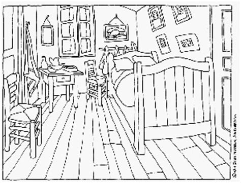 van gogh bedroom coloring page 29 best colouring images on pinterest coloring books