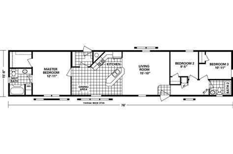 16x80 mobile home floor plans