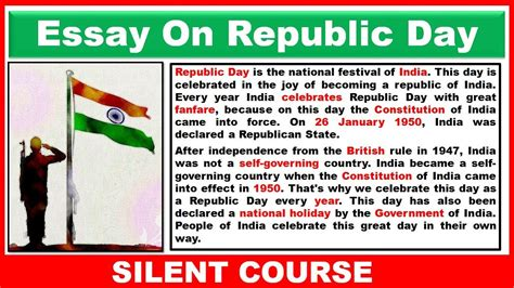 Essay About Republic Day by Essay On Republic Day In 26 January 2018
