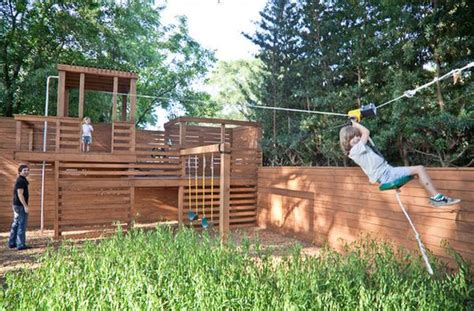 backyard zip lines for sale turning the backyard into a playground cool projects