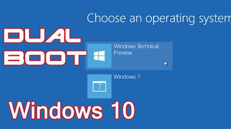 install windows 10 dual boot tutorial cara dual boot windows 10 dengan windows 7 8 1