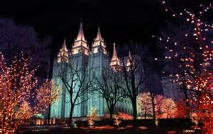 slc temple square lights temple square 10 acre complex church luxury places