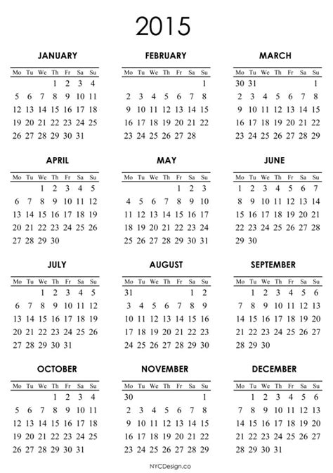 2015 printable calendar templates online calendar