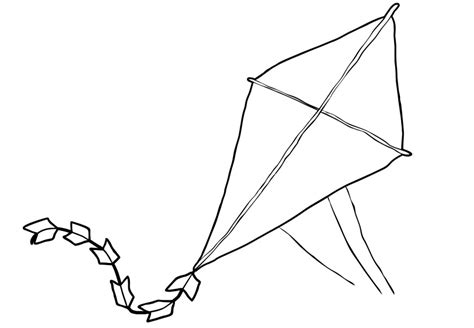 large kite coloring page a kite colouring alltoys for