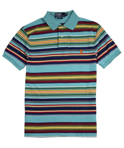 Stripe Polo by Lyst Polo Ralph Multi Stripe Polo Shirt For
