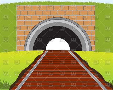 eps clipart railway and tunnel free vector clip image