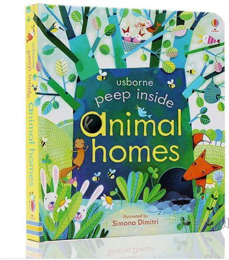educational picture books usborne peep inside animal homes original
