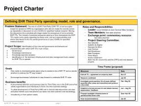 best photos of project charter document project charter