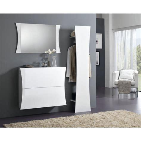 mobili moderni da ingresso odilon set mobili ingresso moderno bianco lucido