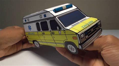 Ambulance Paper Craft jcarwil papercraft 1996 chevy g30 ambulance building