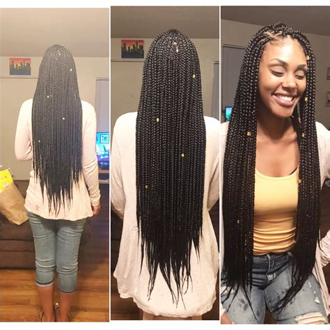 booty braids and a hair cutt long medium box braids boxbraids by ibraid amber ig