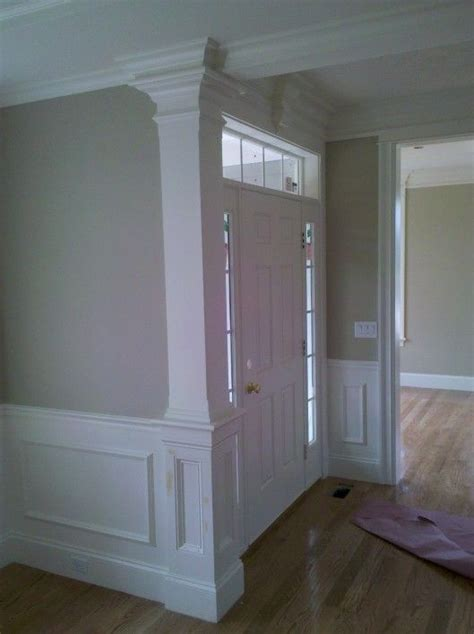 Custom Wainscoting Ideas by Chamfered Column W Recessed Panel Detail Applied Panel