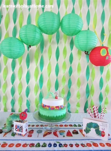 birthday decoration at home for kids learn with play at home very hungry caterpillar party