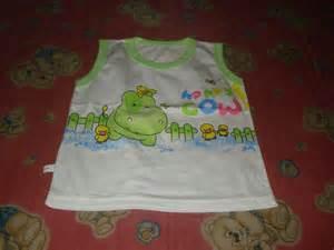 Singlet Katun Lsinglet Bayi Katunsinglet Bayi Motif kaos dalam bayi toko perlengkapan bayi