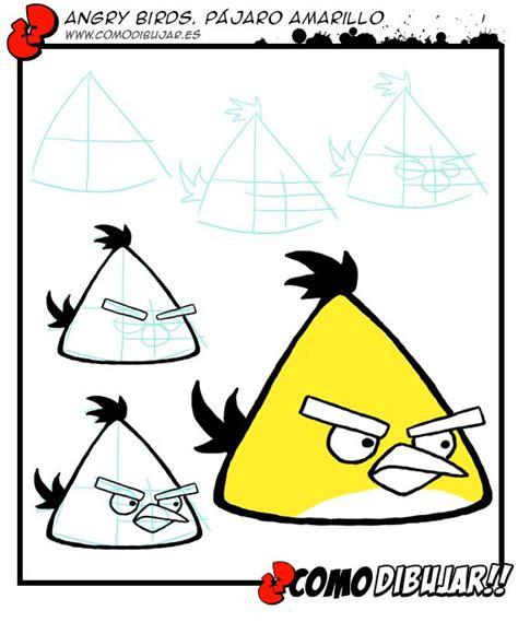 como dibujar un pajaro como dibujar al p 225 jaro amarillo de angry birds http www