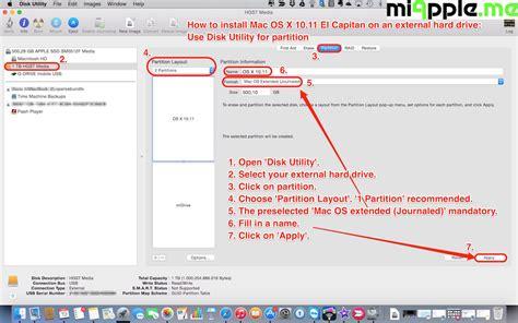 format hard drive el capitan how to install mac os x 10 11 el capitan on an external