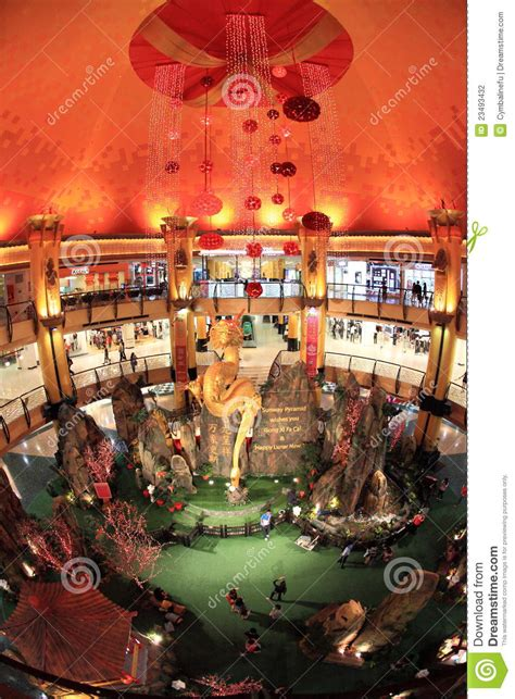 new year decoration shopping mall new year decoration in shopping mall editorial