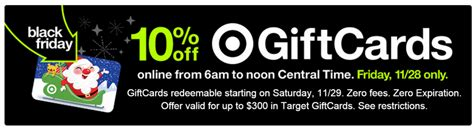 Target Gift Card Black Friday - black friday target gift cards 10 off