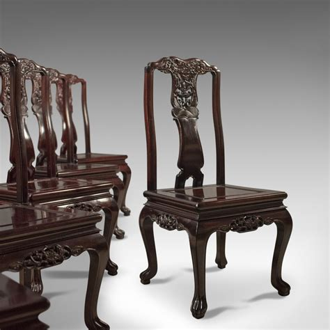 rosewood dining table with 6 chairs antiques atlas oriental rosewood dining table and set of