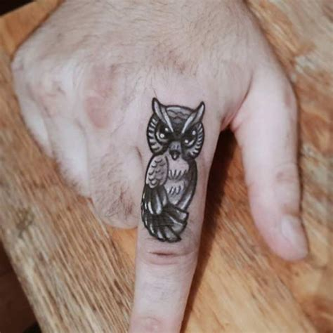 owl finger tattoo 50 small owl tattoos collection