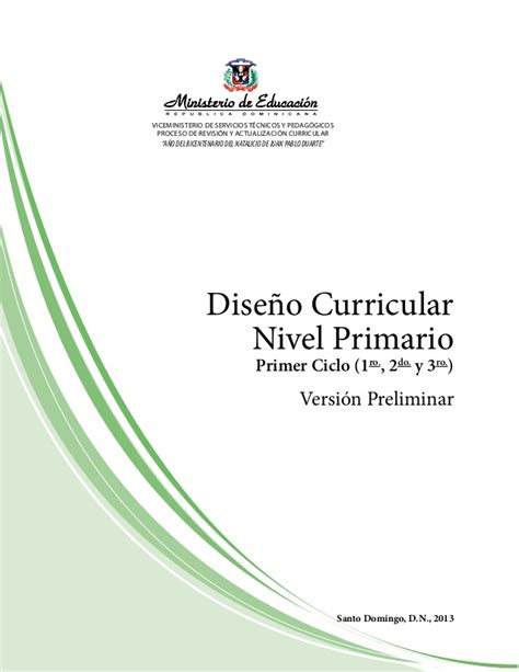 curriculo nivel primario dominicano 2016