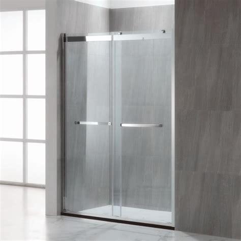custom frameless bypass double sliding shower doors manufacturers buy cheap price