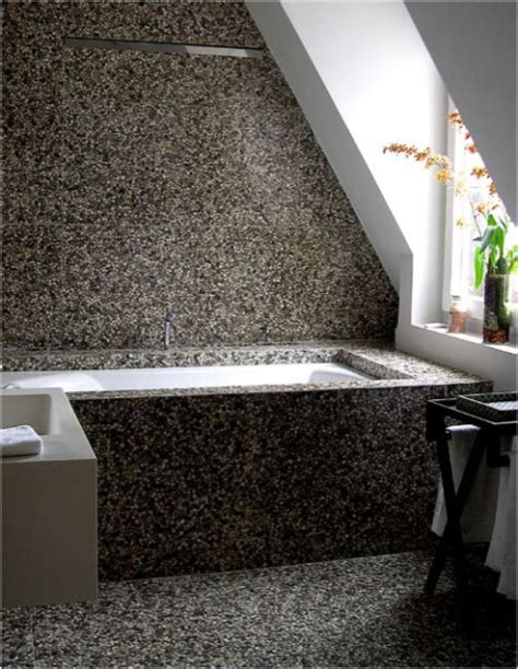 bathroom pebble tiles pebble tile bathroom traditional bathroom other