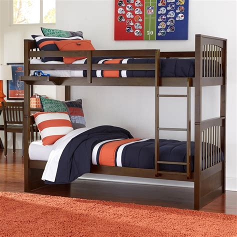Ne Kids Pulse 32040n Mission Style Twin Over Twin Bunk Bed Mission Style Bunk Bed