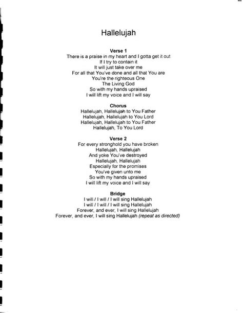 printable lyrics hallelujah hallelujahlyrics jpg photo by crstrom photobucket