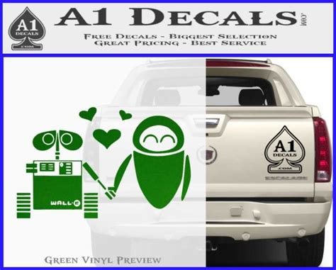 wall e and eve love decal sticker 187 a1 decals wall decal ideas living room a beautiful artdreamshome