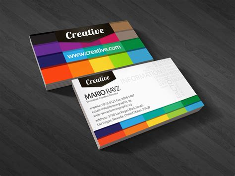business cards make 25 colorful business cards the finished box