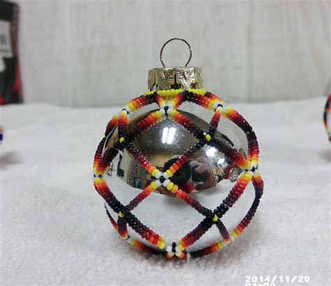 native american handmade beaded christmas tree ornament