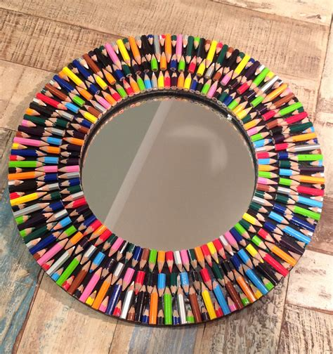 Second Hand Home Decor Online by Colourful Funky Coloured Pencil Mirror