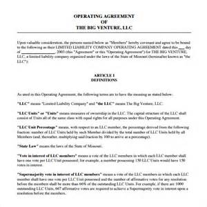 operating agreement template 8 free samples examples