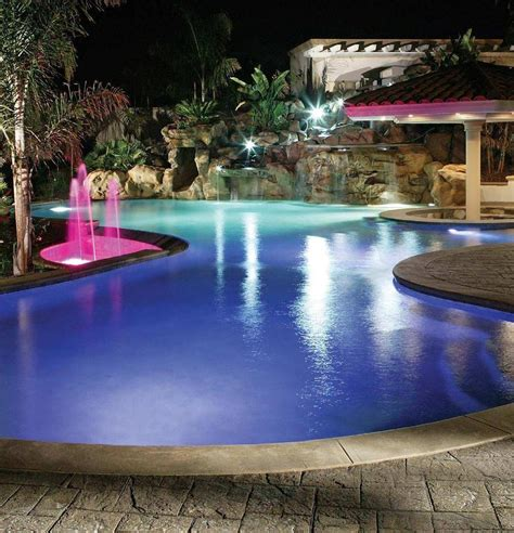 Pool Landscape Lighting Inground Pool Lighting On Winlights Deluxe Interior Lighting Design