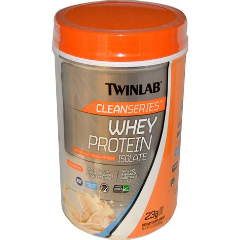 Whey Protein Twinlab twinlab clean series whey protein isolate vanilla wave 1 5 lbs 680 g iherb