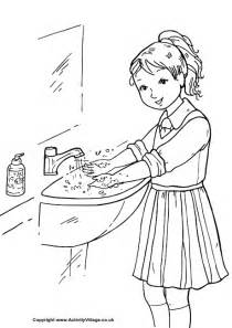 Wash Your Hands Coloring Page Printable Pages K Health Washing Coloring Page
