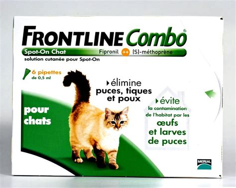 Traitement Anti Puce Maison 4716 by Frontline Combo Chat 6pip Anti Puce Anti Tique