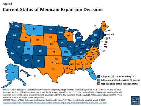 map of expansion of united states medicaid moving forward the henry j kaiser family