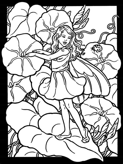 fairies in bloom a flower coloring book books garden fairies stained glass coloring book flower